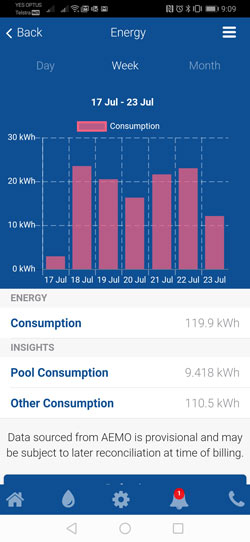 Pooled Energy Smart Meter App Consumption Screenshot